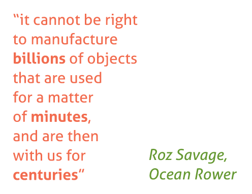 Roz Savage on Plastic waste