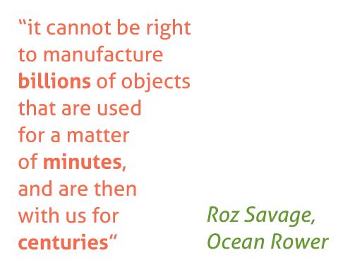 Roz Savage on Plastic waste